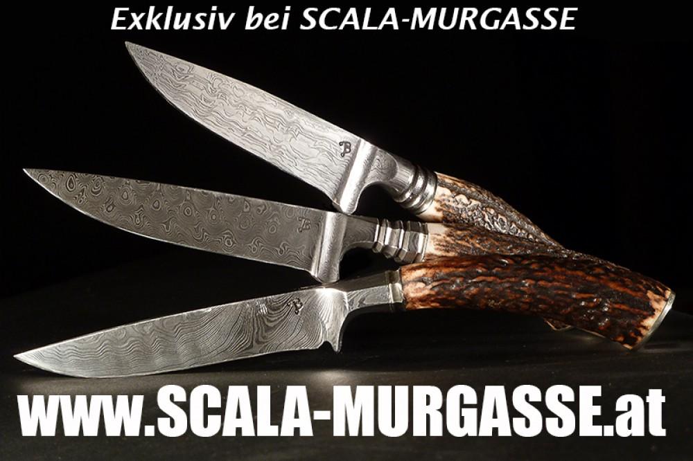 Messer Wien Birchner Birchner Damast-Outdoormesser Jagd- und Outdoormesser