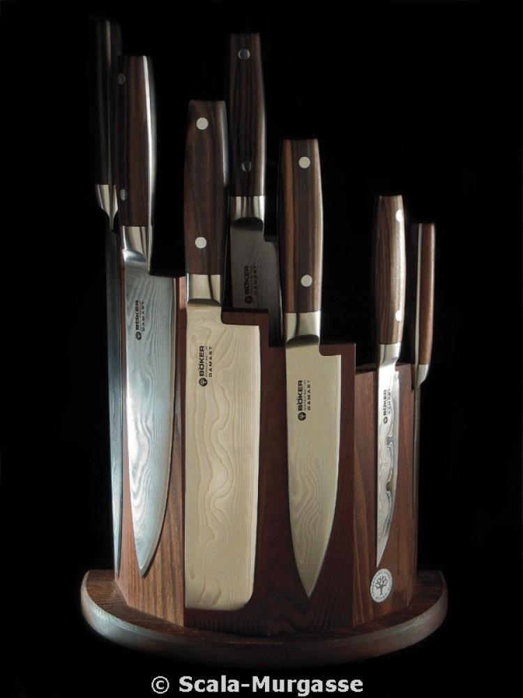 Messer Wien Messerblock vom Solinger Hersteller Böker. Modell: Circle Makassar Ebenholz. boeker messerblock circle makassar ebenholz