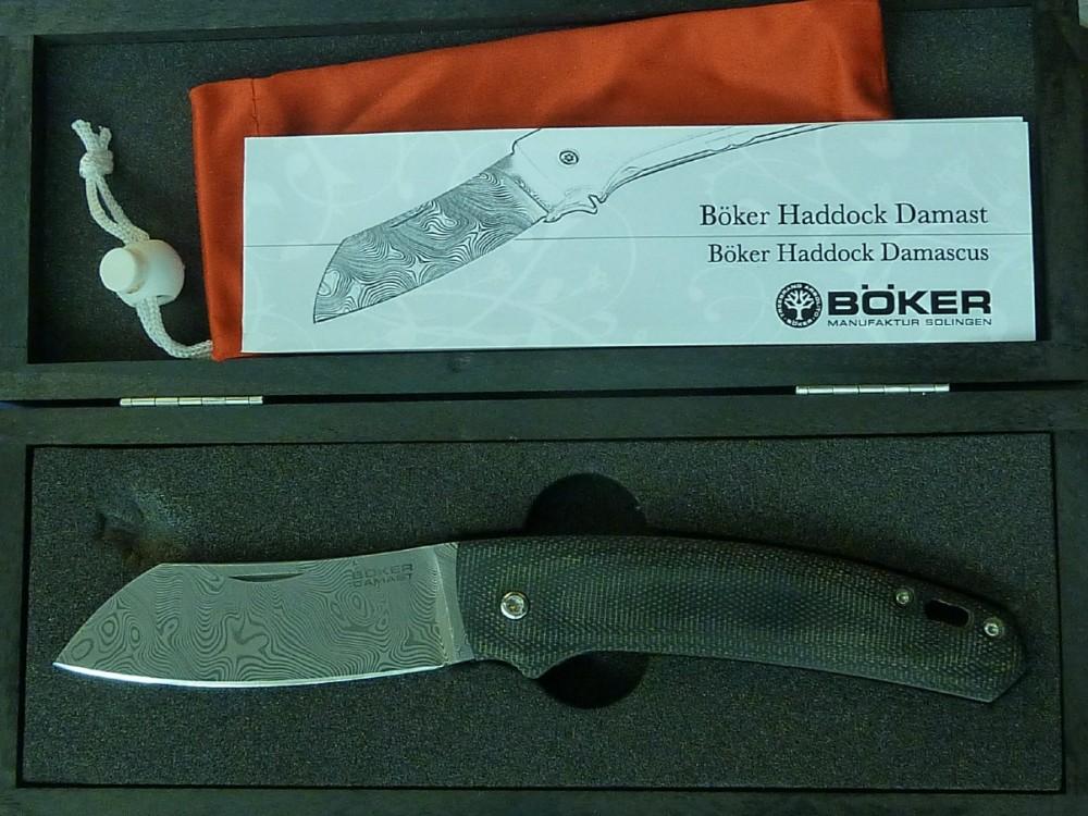 Messer Wien Böker Böker Haddock Damast Taschenmesser