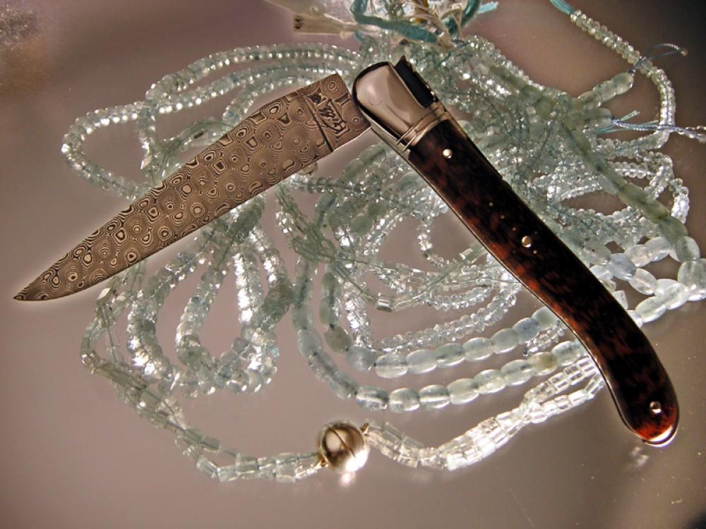 Messer Wien Fontenille Pataud Fontenille Pataud Nature Damast Laguiole Taschenmesser