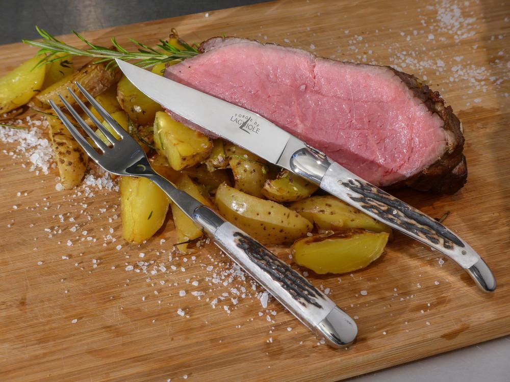Messer Wien Forge de Laguiole Forge de Laguiole Steakbesteck Hirschhorn Steakbesteck