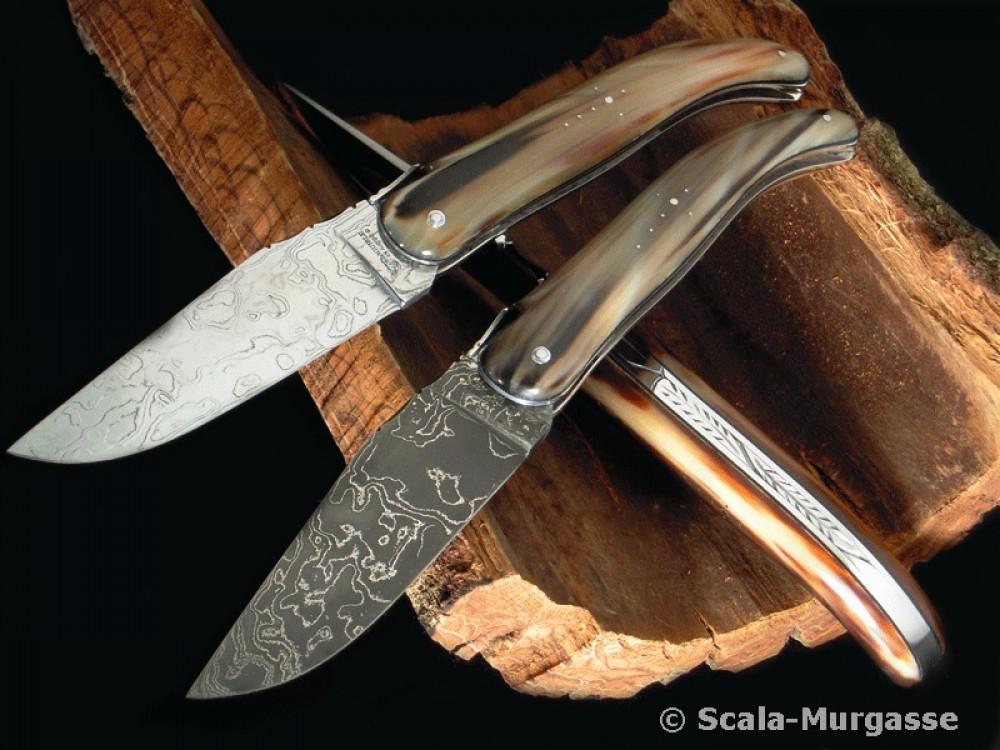 Messer Wien Laguiole en Aubrac Laguiole en Aubrac Chasseur Damast Taschenmesser