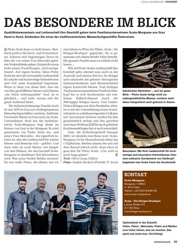 Messer Wien Danke an das Messer Magazin. Erhältlich ist das Messer Magazin unter anderem hier: http://www.wieland-verlag.com/messer-magazin/aktuelle-ausgabe Händler Portrait Messer Magazin Klingen-Boutique Messer Wien Graz