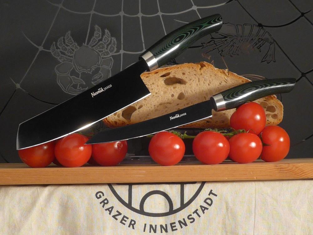 Messer Wien Nesmuk Nesmuk Janus Micarta schwarz Kochmesser