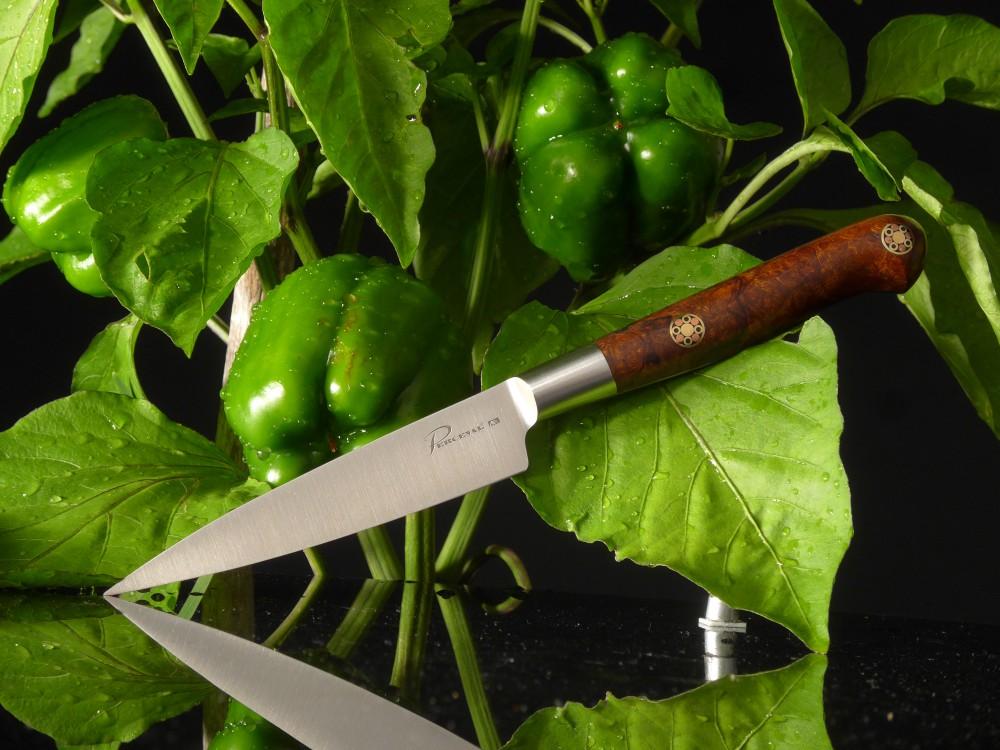Französische Kochmesser aus Thiers,Perceval,Gemüsemesser,Klinge: Triple A Stahl,Griff,Wüsteneisenholz,Taschenmesser