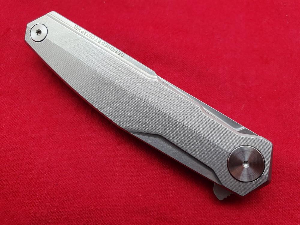 Messer Wien Taschenmesser von Real Steel. Modell: G3 Puuko Duplex. Klinge: Drop-Point Klinge, 14C28N (Sandvik), rostfrei. Griff: Edelstahl, rostfrei, konturiert, Framelock.   taschenmesser real steel g3 puukko duplex 14c28n sandvik flipper framelock edelstahlgriff rostfrei