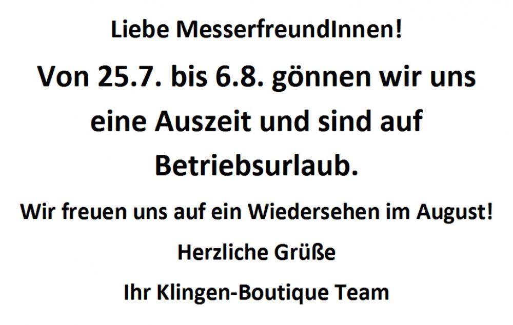 Messer Wien  Urlaub von 25.7. bis 6.8.