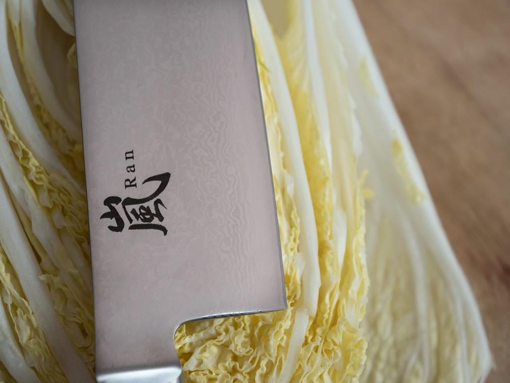 Messer Wien Japanisches Kochmesser von Yaxell. Serie: Ran 69. Modell: Gyutoh. Klinge: VG-10 Klingenkern, 69 Lagen, 61HRC, 25.5cm. Griff: Micarta. japanische kochmesser yaxell ran 69 kochmesser 25cm
