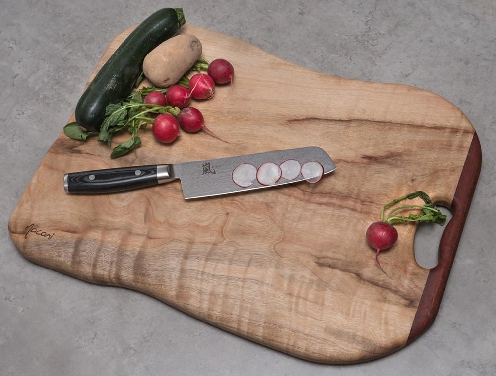 Messer Wien  japanische kochmesser yaxell ran 69 nakiri 18cm sanmai damast micarta 61hrc rostfrei rasiermesserscharf